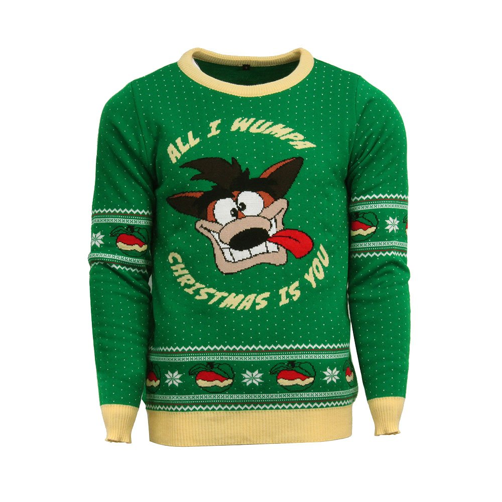 Official Crash Bandicoot Christmas Jumper / Ugly Sweater NUMSKULL