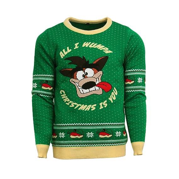 Crash Bandicoot Christmas.Crash Bandicoot Official Christmas Jumper Ugly Sweater