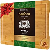 EXTRA LARGE Organic Bamboo Cutting Board with Juice Groove - Kitchen Chopping Board for Meat (Butcher Block) Cheese and…