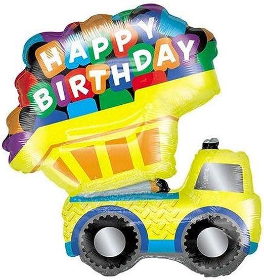 Betallic Foil Balloon 85276P DUMP TRUCK HAPPY BIRTHDAY 33 Multicolored