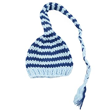704b7e5a0ee Amazon.com  Lucy Stripe Hand Knit Stocking Cap (Small 3-12 Months ...