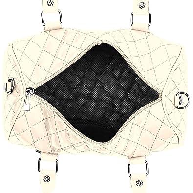 327391817e CASPAR - Petit sac à main vernis pour femme - Sac bowling - plusieurs  coloris - TS758, Farbe:creme weiss: Amazon.fr: Chaussures et Sacs