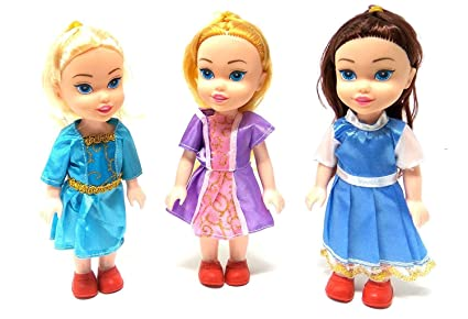 da5457bb61e90 Buy ONE STOP SHOP Small Baby Twin Girl Sisters Long Hair Doll for ...