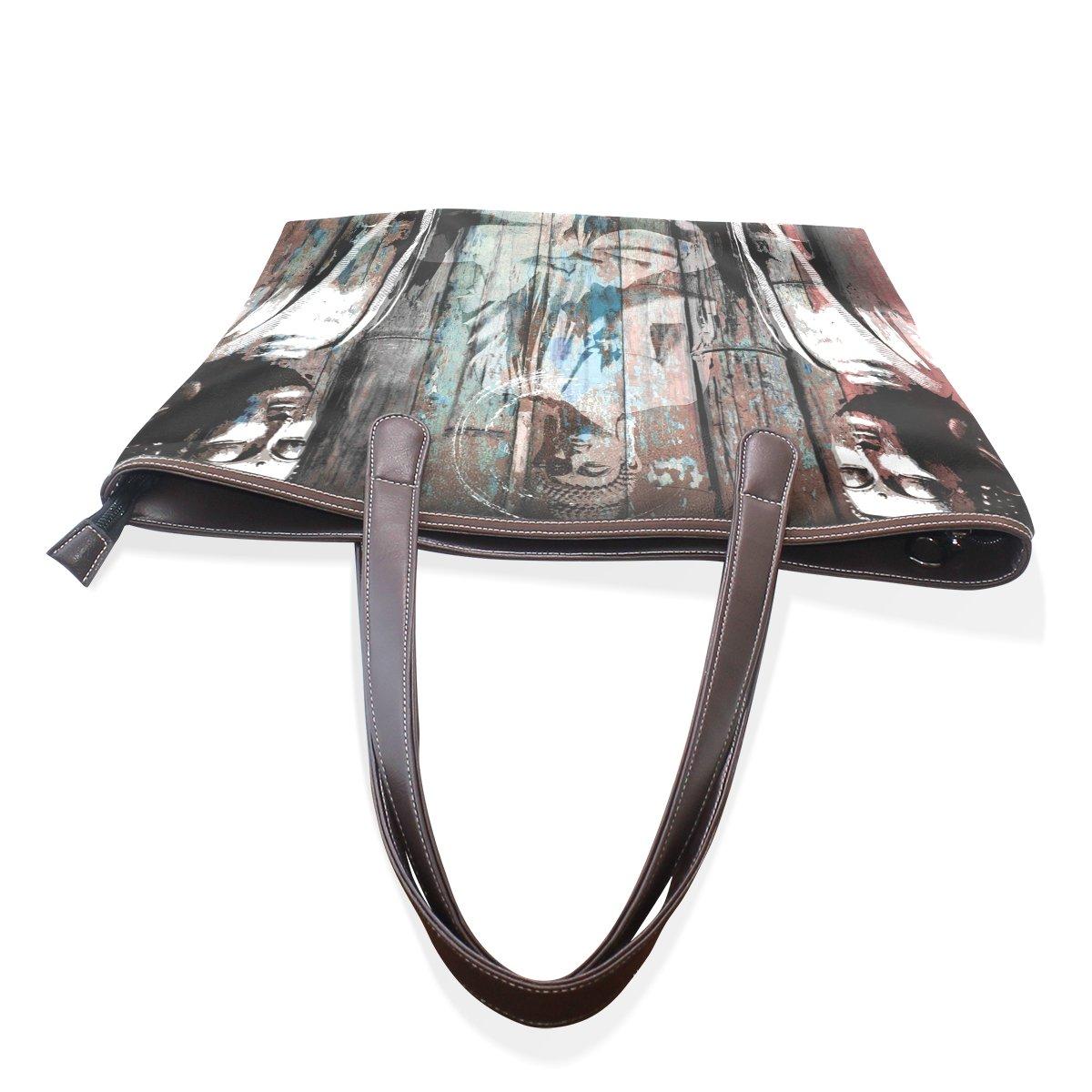 Mr.Weng Household Buddhist Zen Art Lady Handbag Tote Bag Zipper Shoulder Bag