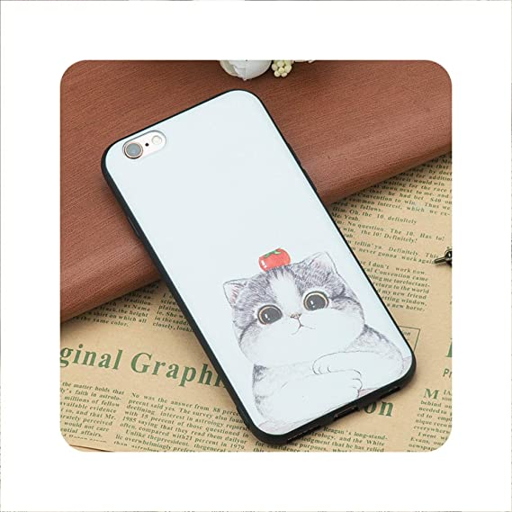 Amazon Com Cat Dog Pattern Tpu Silicon Coque Funda Coque Shell Case Phone Cute Cover Case For Iphone 7 X 5s 5 Se 6 S 6s 8 Plus 17 For Iphone 5 5s Se