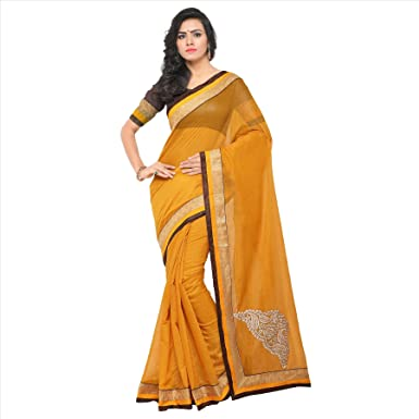 01df0fd20f Softieons Ecommerce Women's Chanderi Cotton Saree with Blouse Piece (Butta  Saree) (SOFT_237_VAR) [sarees for women latest ...
