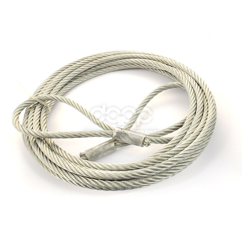 Öse 0,5m ANSCHLAGSEIL 5mm Öse 10m Hebeseil Forstseil Kranseil Stahlseil Seil