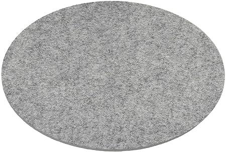 diametro 3 mm Sottopentola in feltro ESTA-Design diametro 20 cm colore: Grigio chiaro m/élange rotondo