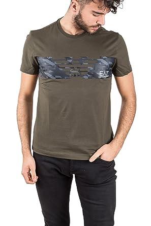 Homme Cou Manches Armani Emporio Ea7 Du Shirt Ras Avec T cAzBv