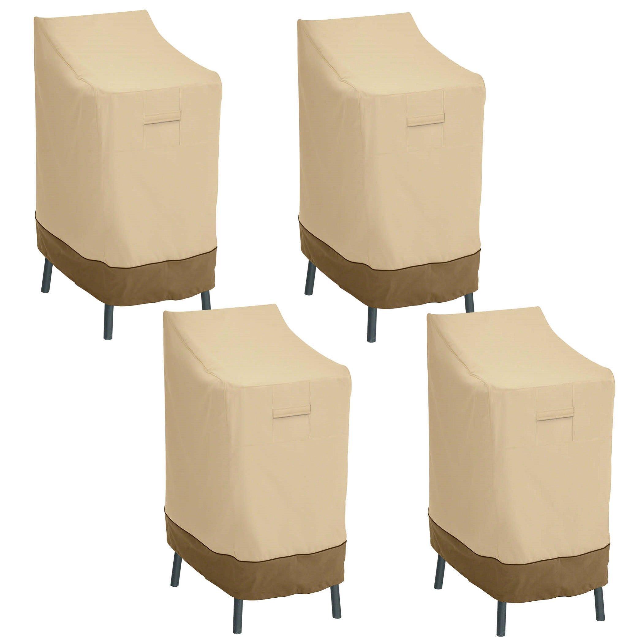 Classic Accessories 55-642-011501-4PK Veranda Patio Bar Chair/Stool Cover (4-Pack)