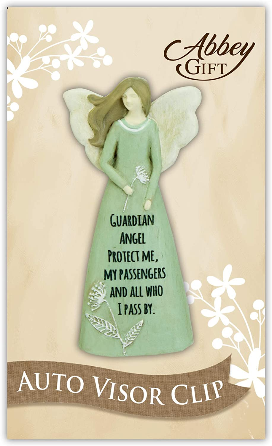 Multi Abbey Gift 3.5 Protect Me Sculpted Guardian Angel Carded /& Boxed Visor Clip