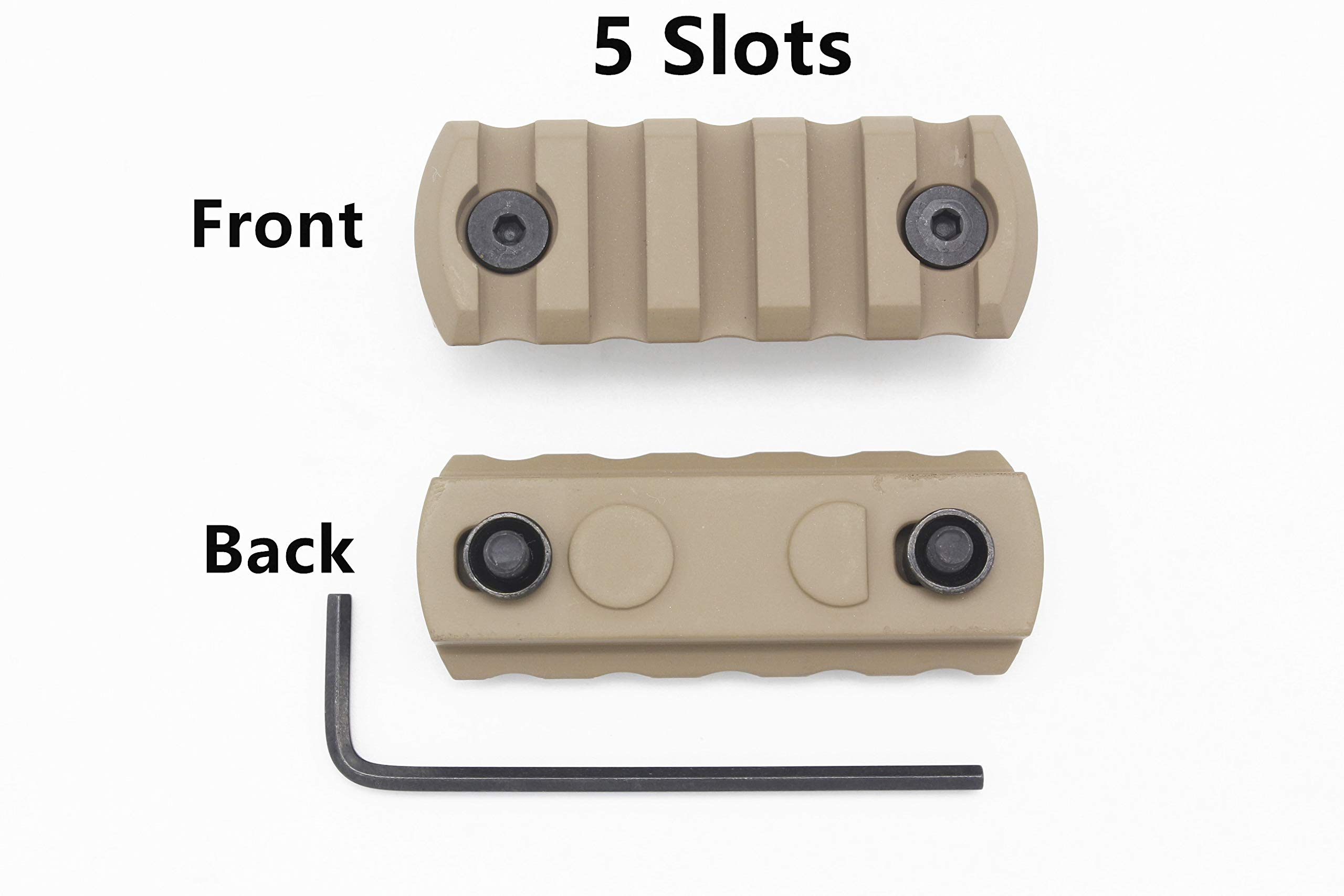 Active-8 Keymod Picatinny Rail, 5-Slot Lightweight Aluminum Weaver Rail Section Accessories for Keymod Rail System by Active-8