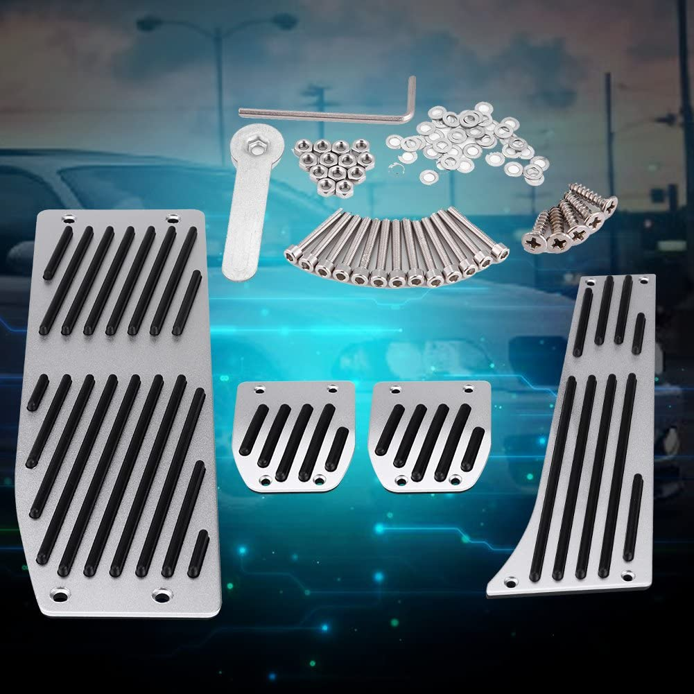 Brake Foot Pedal 4pcs Car Manual Transmission Clutch Brake Foot Rest Pedal Pad for 1 3 5 7 X1 Series E30 E32 Car Foot Pedal