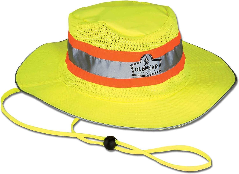 3 THREE ERGODYNE REFLECTIVE HAT GloWear Hi-Vis Ranger Hat Wide Brim