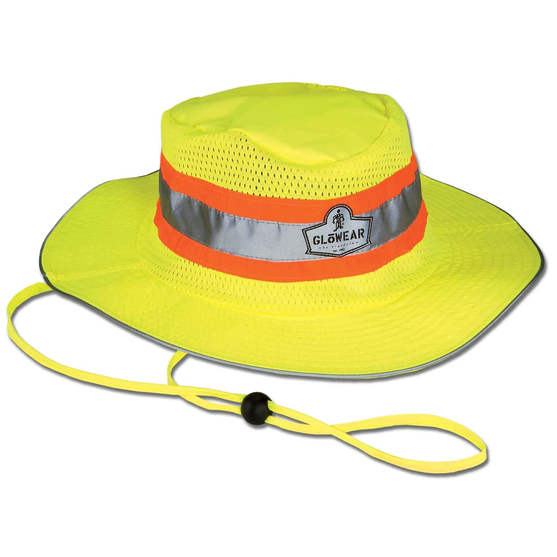 Ergodyne GloWear 8935 High-Visibility Ranger Hat, XX-Large/3X-Large, Lime