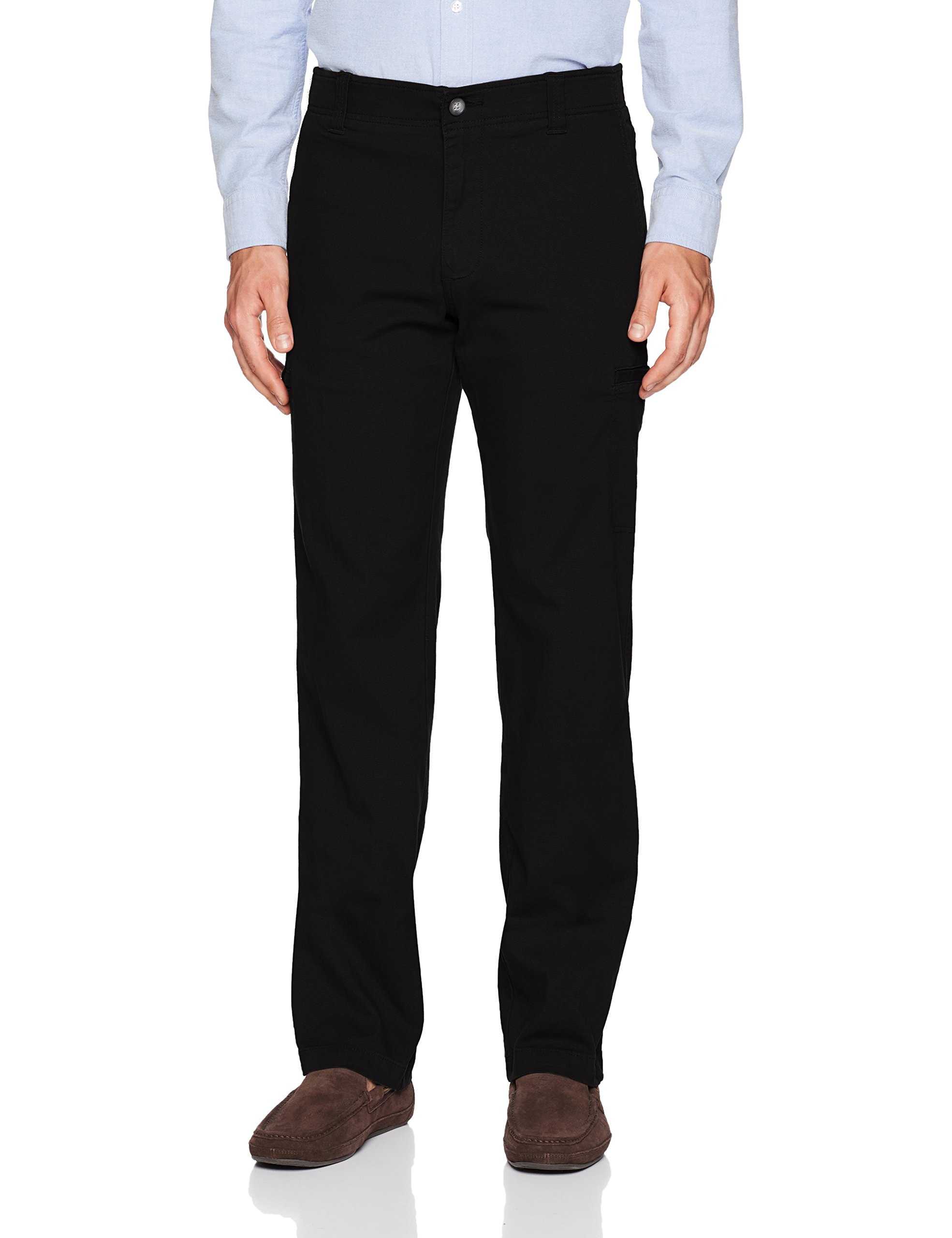 LEE Men's Performance Series Extreme Comfort Cargo Pant, Black, 34W x 32L