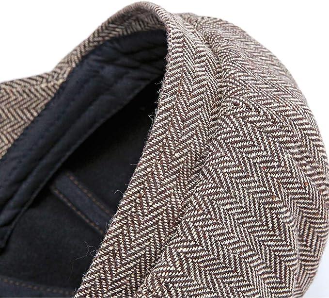 GADIEMKENSD Unisex Flat Cap with Visor Newsboy Hat Head Size Up to 60CM XH49