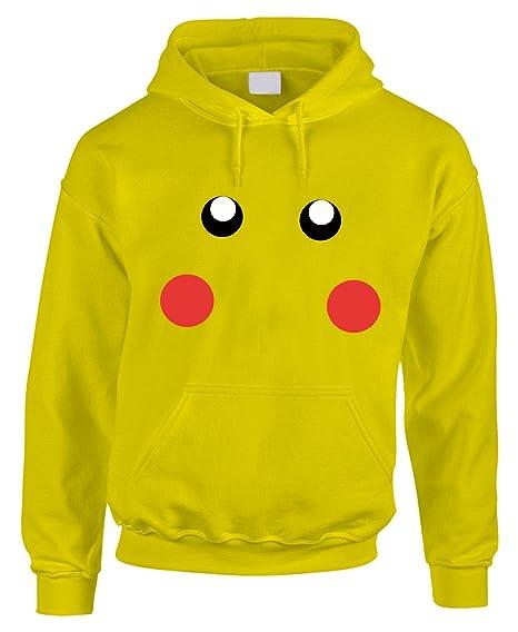 fashwork Sudadera con Capucha Pikachu Pokémon Juegos Japón Game de algodón by, Amarillo