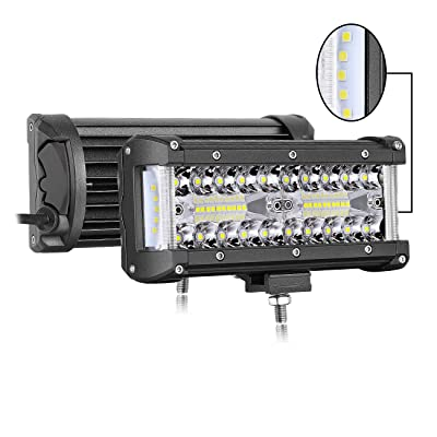 Side Shooter Led Pods,Auto Power Plus 300W 7 Inch Led Light Bar Spot Flood Combo Led Work light Triple Row Super Bright Off Road Driving Fog Lights CREE Led Cubes for Truck Jeep UTV ATV Boat 2PCS: Automotive