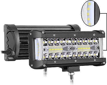 7inch 120w 6000k LED Work Light Bar Side Shooter Pod Combo Beam Driving Fog Lamp