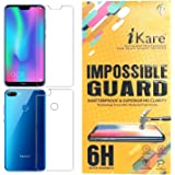 iKare Plastic Fibre Front and Back Tempered Screen Guard for Honor 9N (Transparent)