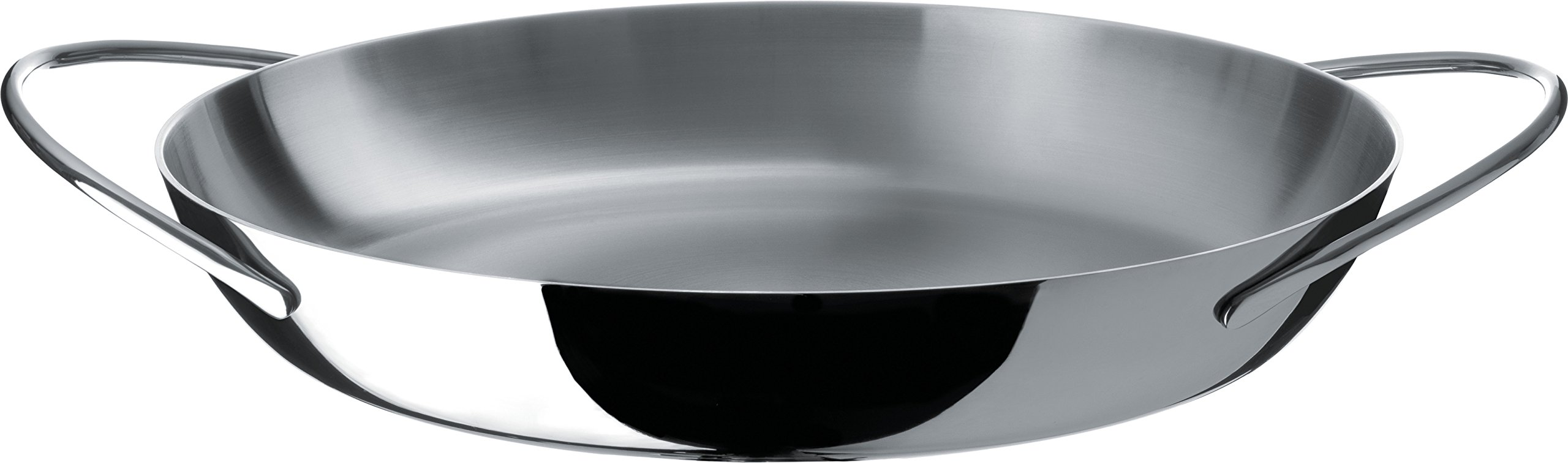 Alessi ''Domenica'' Low Casserole With Two Handles in Multiply, Silver
