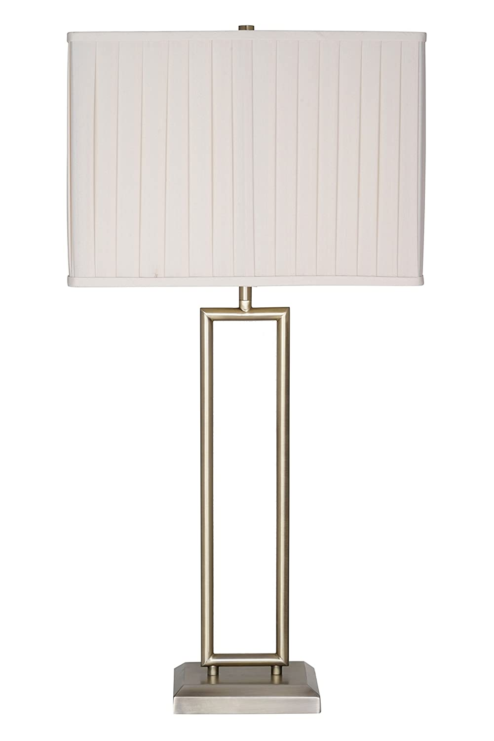"CDM product Catalina Lighting 20710-000 Leilani 32"" Brushed Nickel & Metal Wire Gourd-Shaped Table Lamp big image"