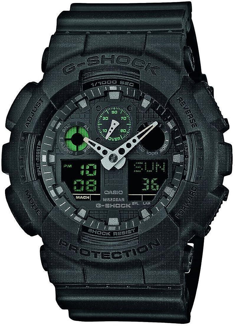 Casio Reloj Analogico-Digital para Hombre de Cuarzo con Correa en Resina GA-100MB-1AER