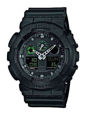 Casio Reloj Analogico-Digital para Hombre de Cuarzo con Correa en Resina GA-100MB-1AER: Casio: Amazon.es: Relojes