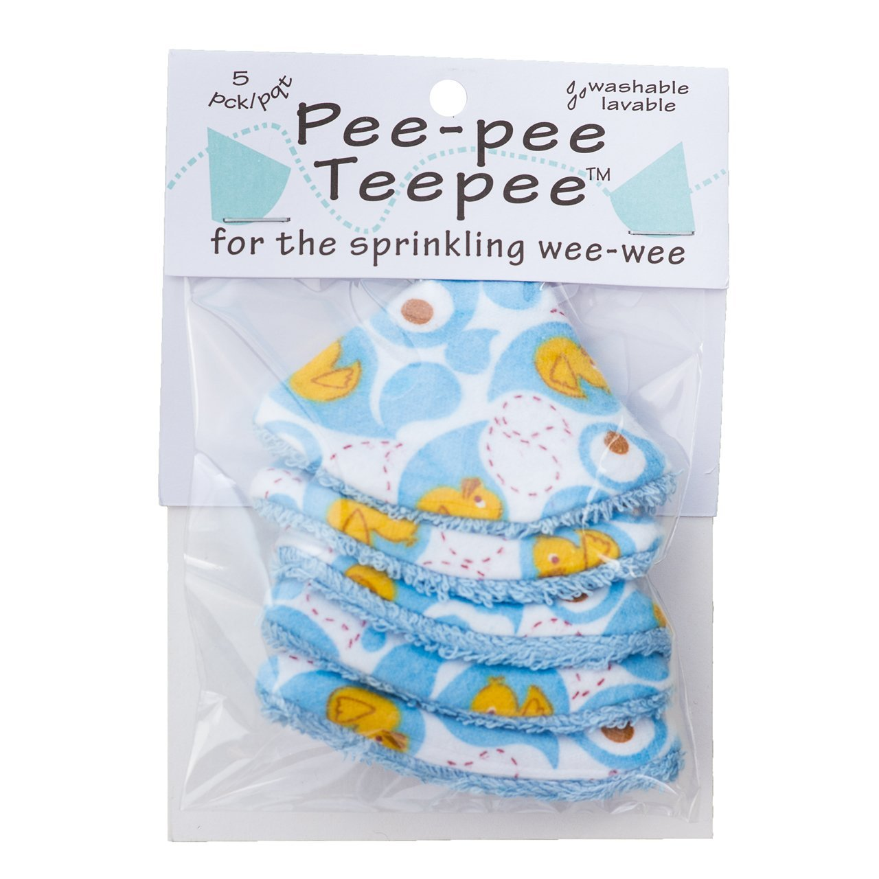Pee-pee Teepee Rubber Ducky Blue - Cello Bag Beba Bean PT3085