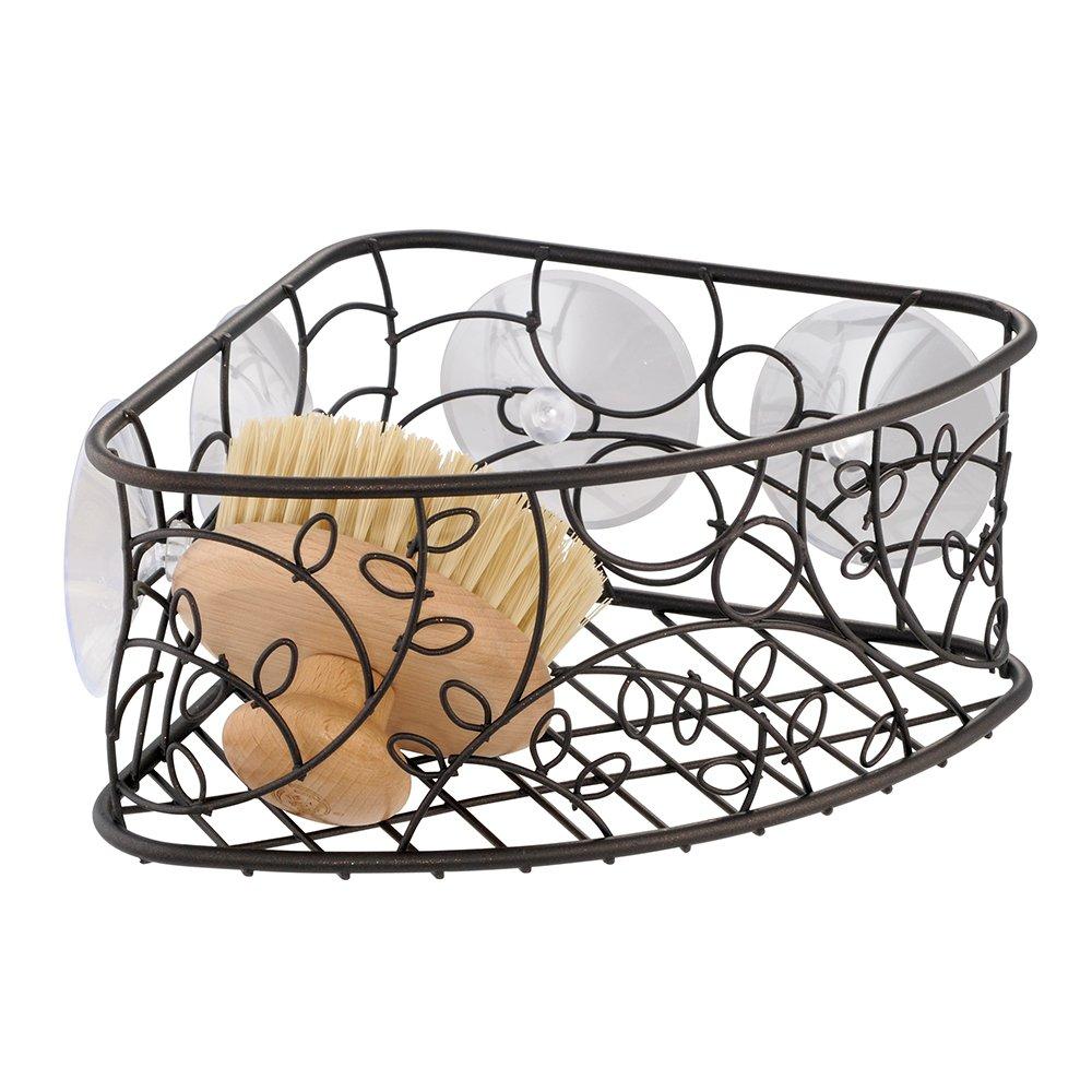 InterDesign Twigz Bath, Toilet Bowl Brush and Holder for Bathroom Storage - Bronze 77381