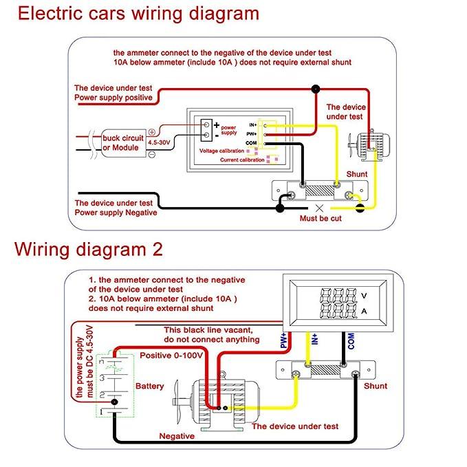 amazon com drok digital current tester multimeter dc 100v volt 2a rh amazon com