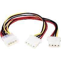 StarTech.com LP4 to 2x LP4 Power Y Splitter Cable M/F - LP4 Splitter - Molex Y Splitter - Molex Splitter (PYO2L)