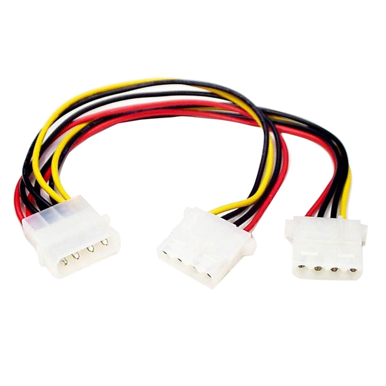 StarTech.com LP4 to 2x LP4 Power Y Splitter Cable M//F Molex Y Splitter Molex Splitter LP4 Splitter