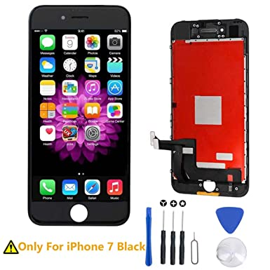 Replacement Screen for iPhone 7 Black LCD Display Touch Digitizer Screen  Full Assembly with Repair Tool Kit and Screen Protector  Amazon.co.uk   Electronics 9f4ce2f274