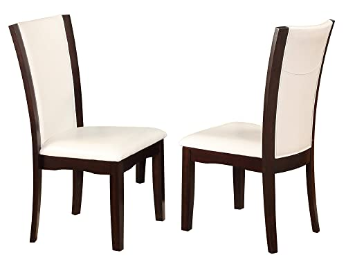 Crown Mark Camelia Side Chair White – Set of 2