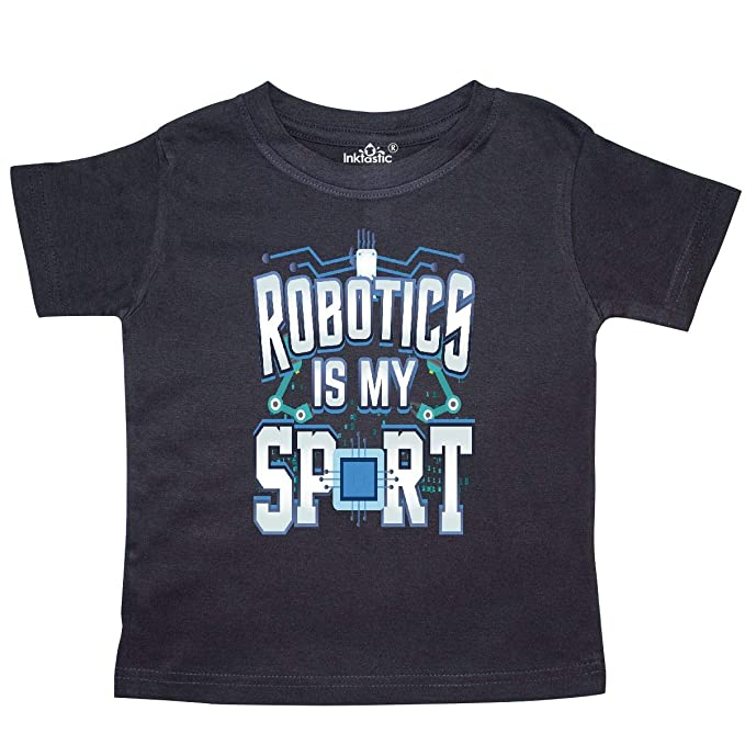 f2d48a9e inktastic - Robotics is My Sport Funny Toddler T-Shirt 2T Black 33620