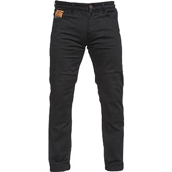 Black Pantalones Vaqueros para Motocicleta, Color Negro ...