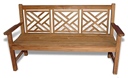 Amazon Com Eco Friendly Furnishings 59 Natural Teak Chippendale