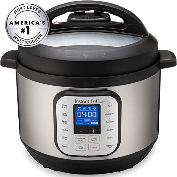 Amazon Com Instant Pot Duo Nova Pressure Cooker 7 In 1 10 Qt Kitchen Dining