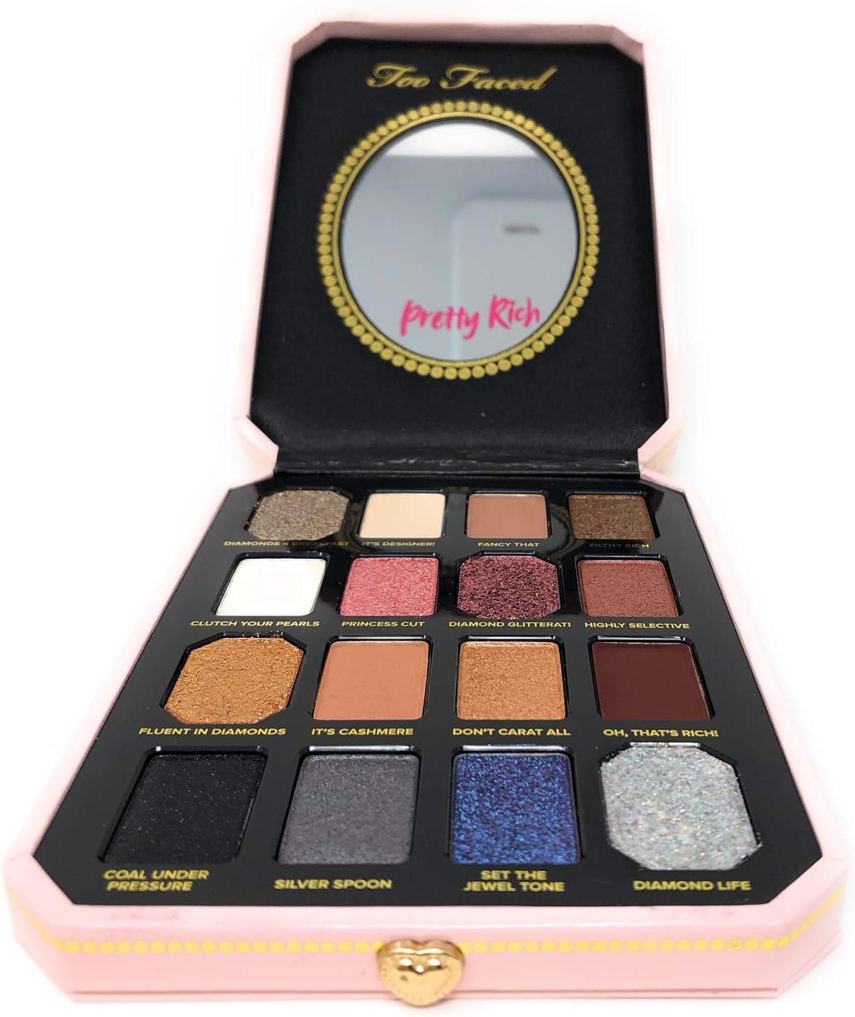 Too Faced - Pretty Rich - Paleta de sombra de ojos Diamond Light: Amazon.es: Belleza
