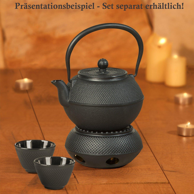 Dimono Traditionelles Tee-Set aus Gusseisen    Teekanne, Stövchen und 2 Teebecher B01G5SQBFI Teekannen b867e8