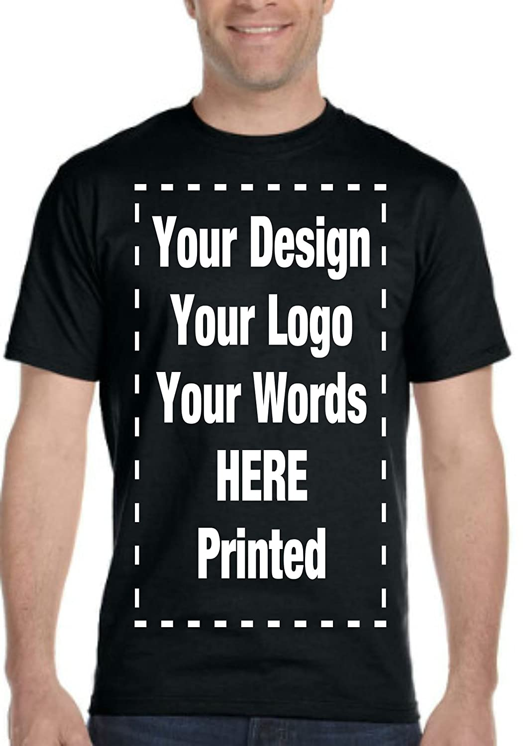 Amazon Custom T Shirt Personalized Tee Add Your Design Logo