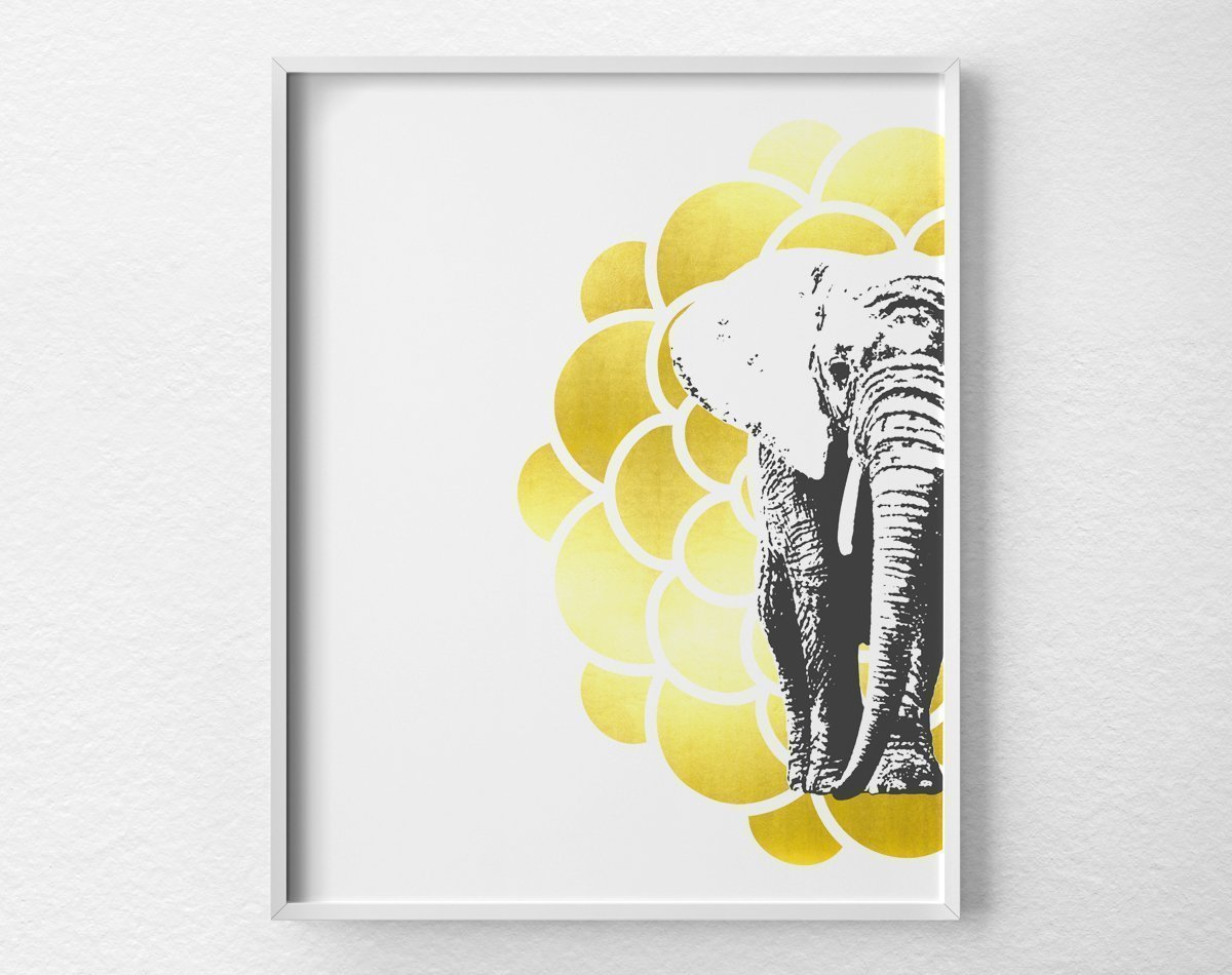 Amazon.com: Mandala Elephant Art Print Poster Wall Decor, Animal Art ...