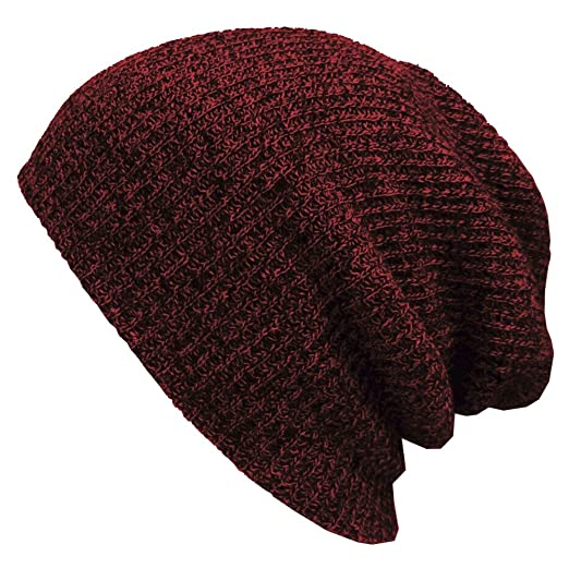 b403cc56f84 Image Unavailable. Image not available for. Color  OULII Slouchy Beanie  Caps Men Knitted Winter Warm Ski Hat Hip-Pop Hats ...