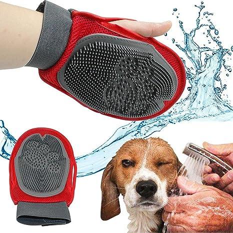 BPS® Guante Masajeador para Mascotas Perros y Gatos, Guantes Manopla Masaje, Retiro del