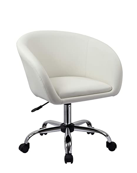 Prime Duhome Swivel Chair On Casters Desk Chair White Height Adjustable Swivel Stool With Wheels And Backrest Faux Leather Colour Selection Wy 440F Gmtry Best Dining Table And Chair Ideas Images Gmtryco
