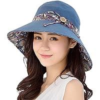 Xuzirui - Sombrero de Verano para Mujer, Reversible, UPF 50 + Sombrero de Playa, Plegable, Gorra Ancha