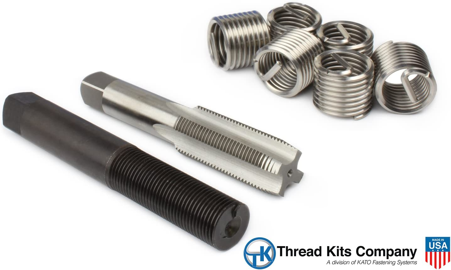 30 mm Installed Length M20-2.0 Thread Size PowerCoil 3521-20.00K Metric Free Running Coil Threaded Insert Kit 304 Stainless Steel