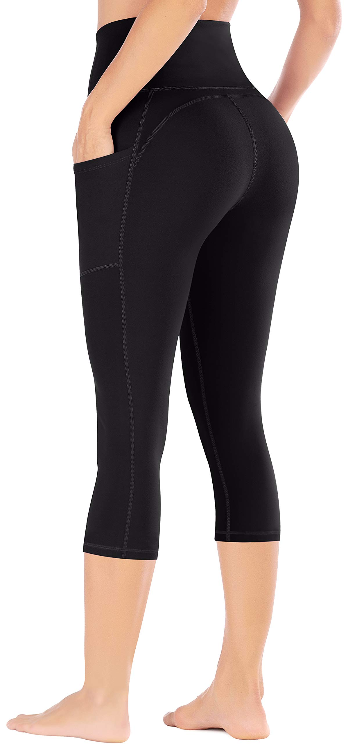 Ewedoos Yoga Pants with Pockets for Women Ultra Soft Leggings with Pockets High Waist Workout Pants (Ew327 Black, XX-Large) by Ewedoos